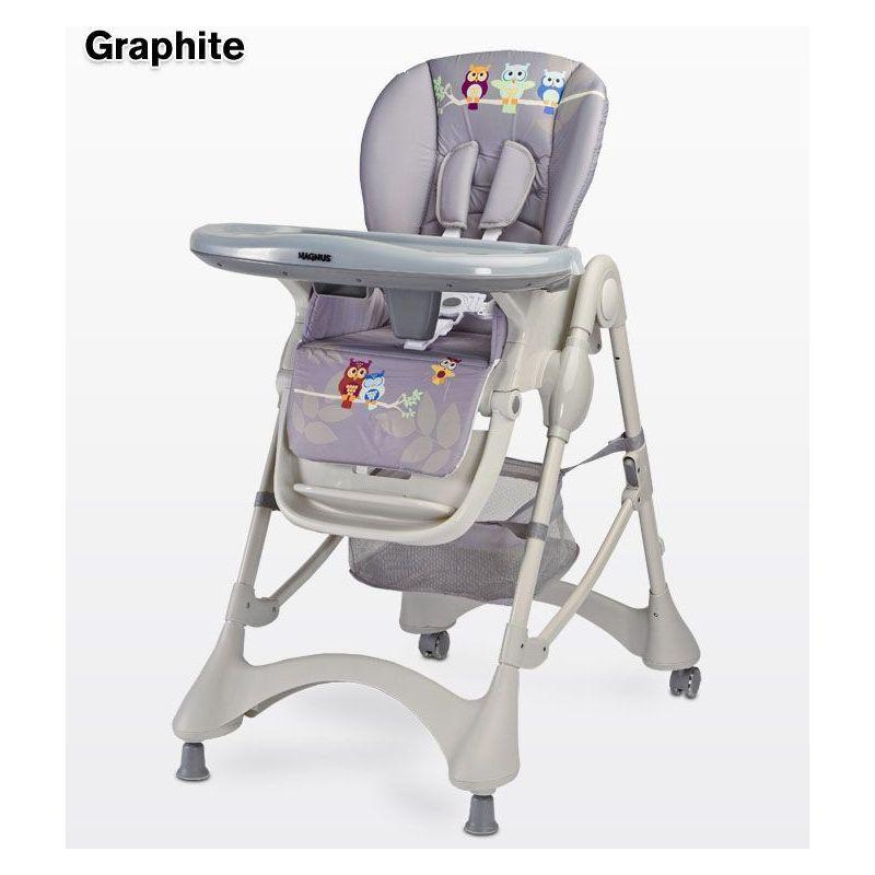 HUCOCO Chaise haute évolutive - Chaise repas bébé - Bébe/Enfant - Dès 6 mois - Siège repas - Ajustable en hauteur - Grand plateau amovible - graphite