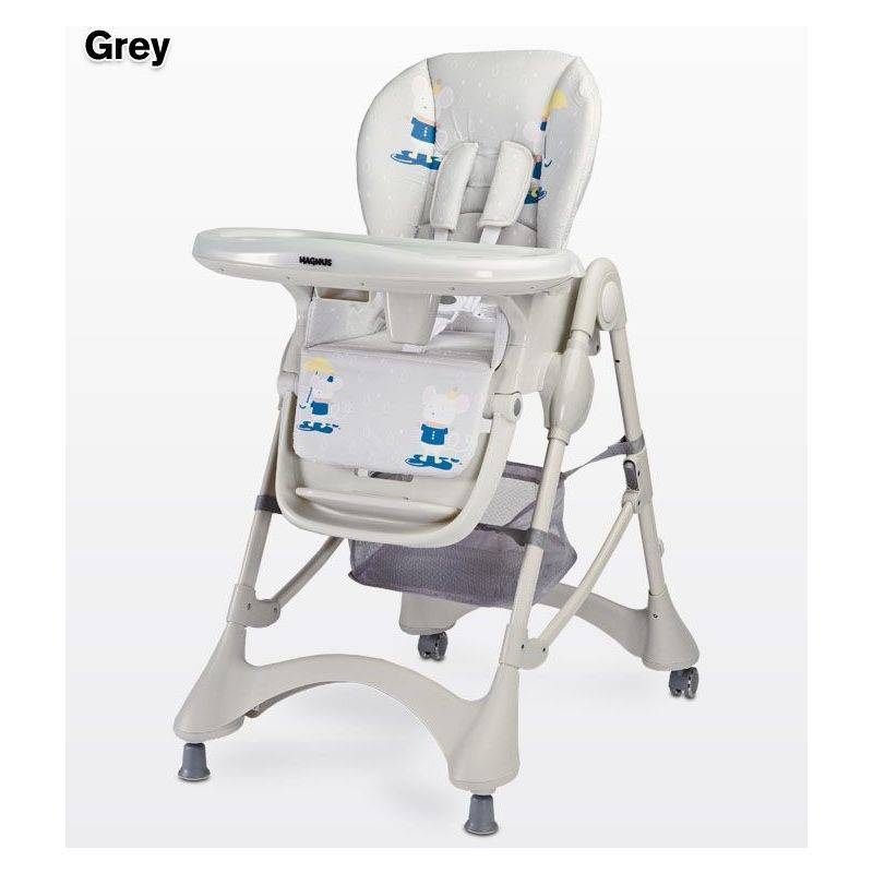 HUCOCO Chaise haute évolutive - Chaise repas bébé - Bébe/Enfant - Dès 6 mois - Siège repas - Ajustable en hauteur - Grand plateau amovible - gris