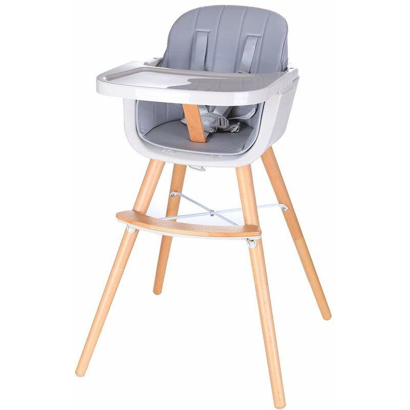 BATHRINS Chaise Haute pour bébé en Bois,table à mange,girs