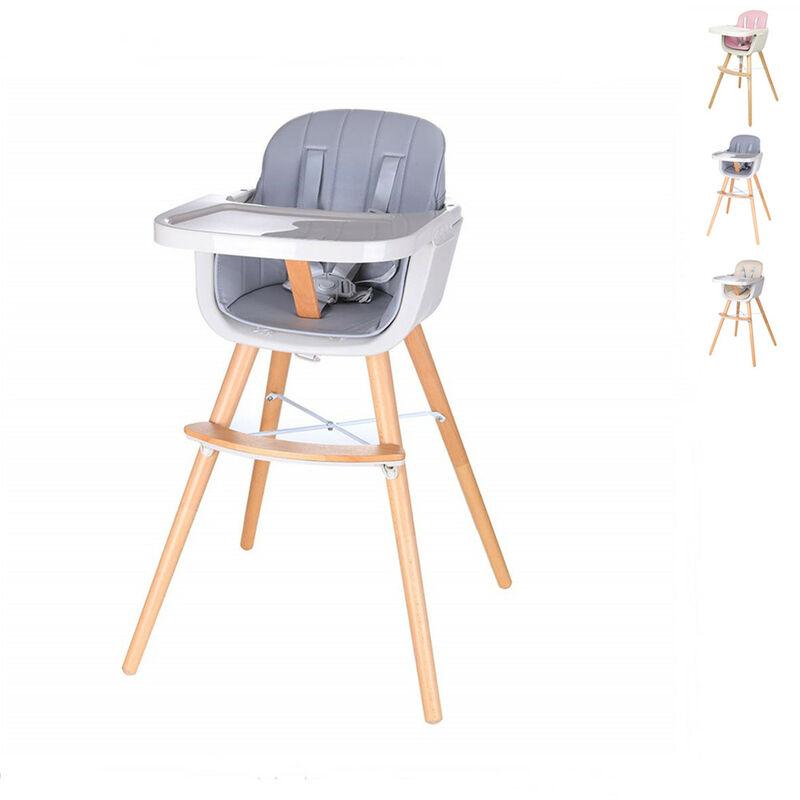 OOBEST Chaise Haute Évolutive 2 en 1 Hauteur Réglable - Chaise Haute Bébé avec Plateau - Gris