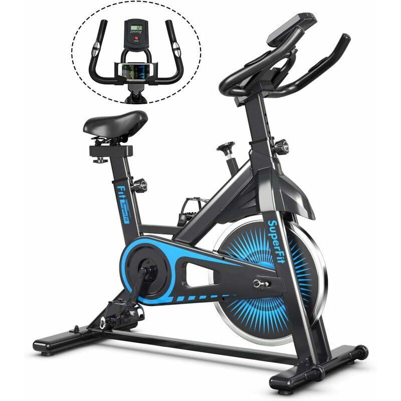 COSTWAY Vélo d'Appartement Magnétique avec Volant d'Inertie 6KG Résistance Ajustable Moniteur LCD Siège et Guidon Capacité 120KG - Costway