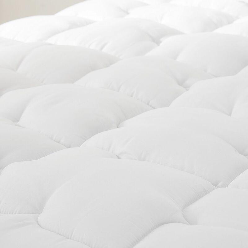 Pursens - Couette 240x260cm Grand froid - Garnissage fibre creuse haute densité 700g/m² - Traitement anti-acarien, bactérien, moisissures - BLANC