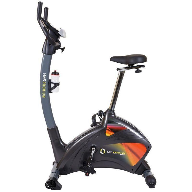 HUCOCO HMSPORT - Vélo d'appartement magnétique - Cardio Fitness - Vélo d'intérieur - 24 programmes - Bluetooth + Support tablette - Noir/Rouge