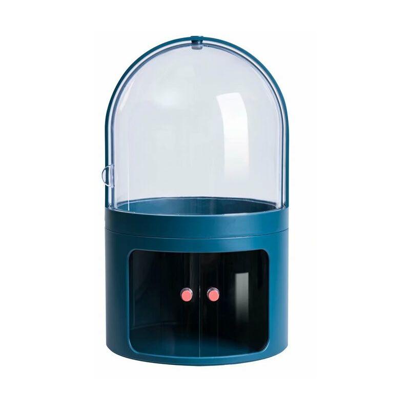 ILOVEMILAN Boîte de rangement cosmétique Coiffeuse transparente anti-poussière avec couvercle Bijoux Boîte cosmétique de bureau Boîte de finition pour produit