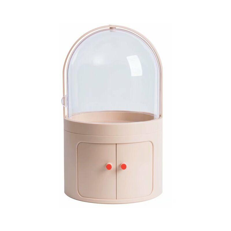 ILOVEMILAN Boîte de rangement cosmétique Coiffeuse transparente anti-poussière avec couvercle Boîte à cosmétiques Boîte de finition pour produits de soins de la