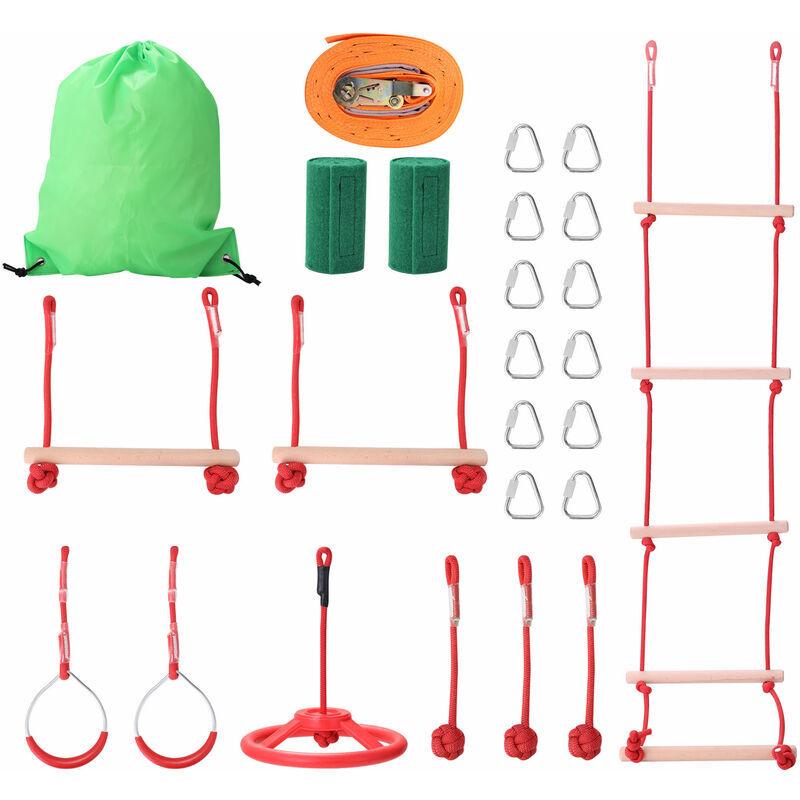 HAPPYSHOPPING Ligne d'exercice de corde d'escalade pour enfants equipement d'entrainement d'obstacles equipement de sport pour enfants en plein air pour enfants,