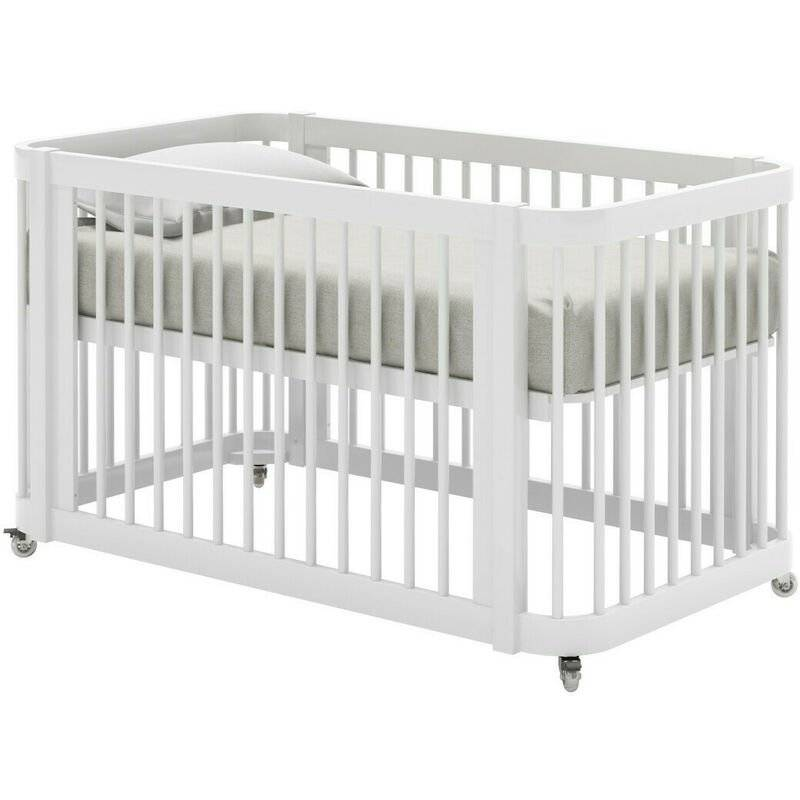 AKITEN RETAIL Lit bébé évolutif Maé Blanc 70x140 cm