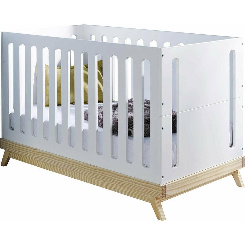 AKITEN RETAIL Lit bébé évolutif Zola Blanc 70x140 cm