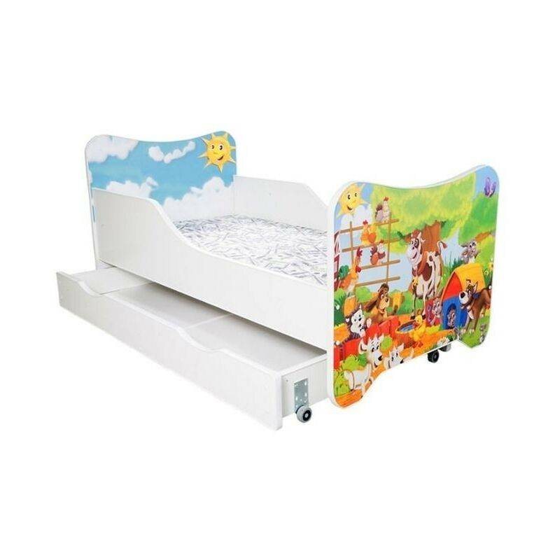 LES TENDANCES Lit enfant à tiroir ferme 80x160