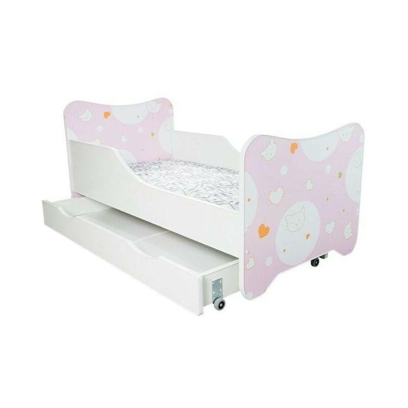 LES TENDANCES Lit enfant à tiroir kitty 80x160