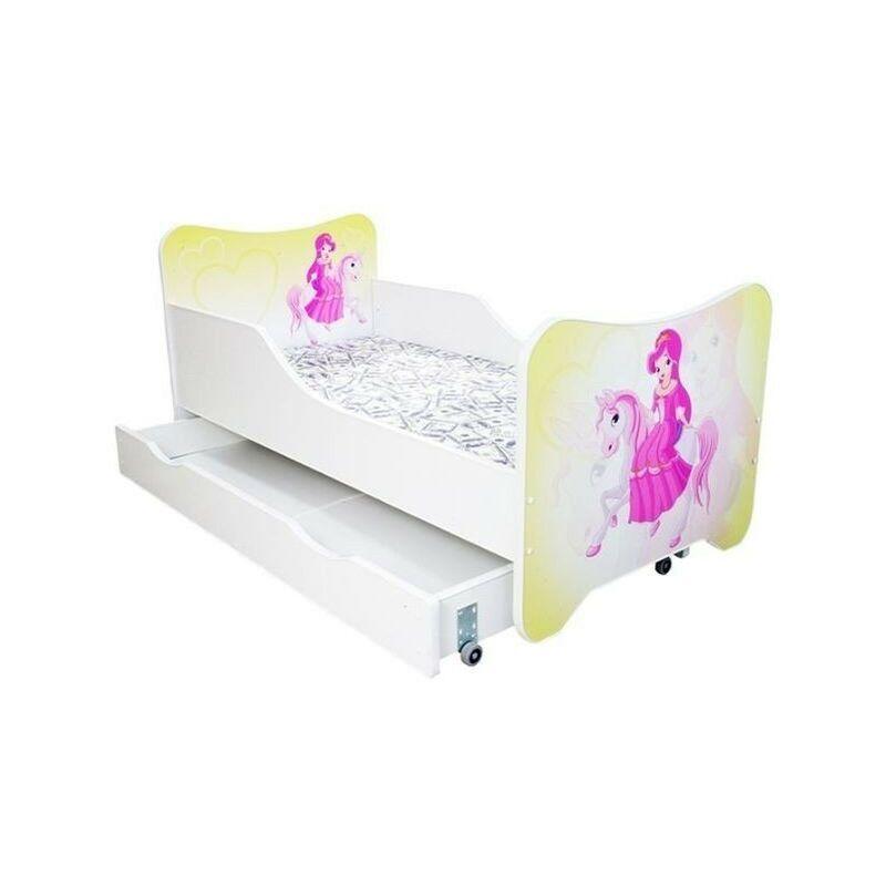 LES TENDANCES Lit enfant à tiroir pony poney 80x160