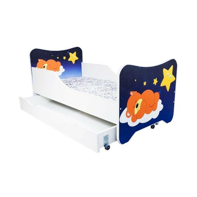 LES TENDANCES Lit enfant à tiroir teddy dort 80x160