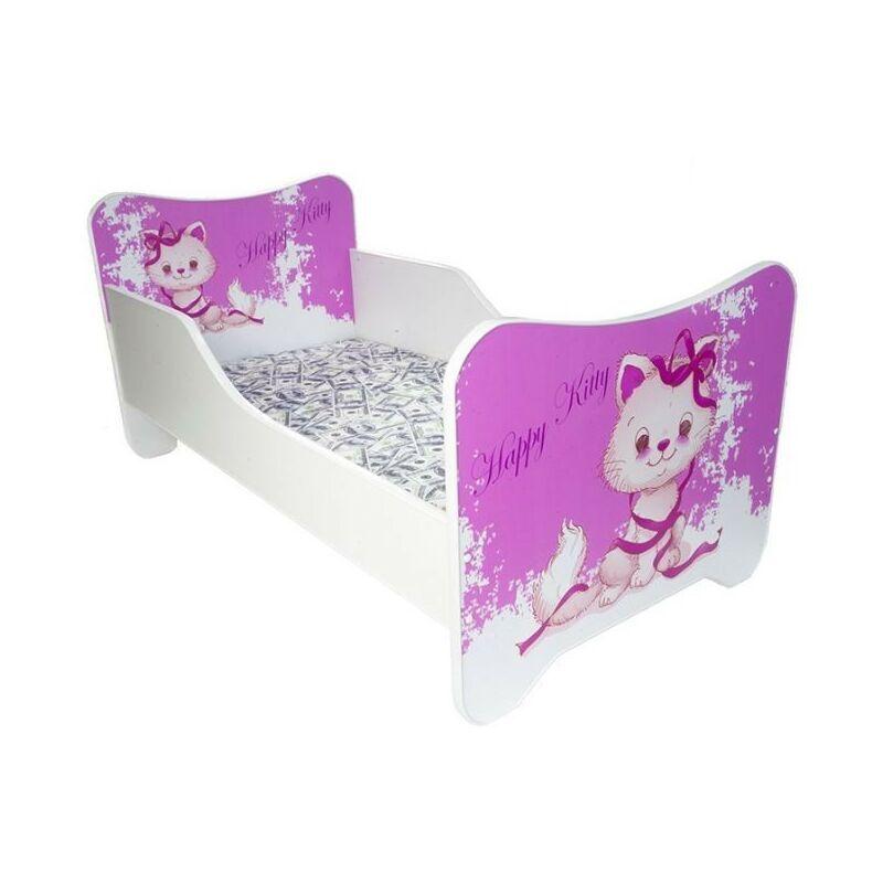 LES TENDANCES Lit enfant un monde joyeux happy kitty 80x160