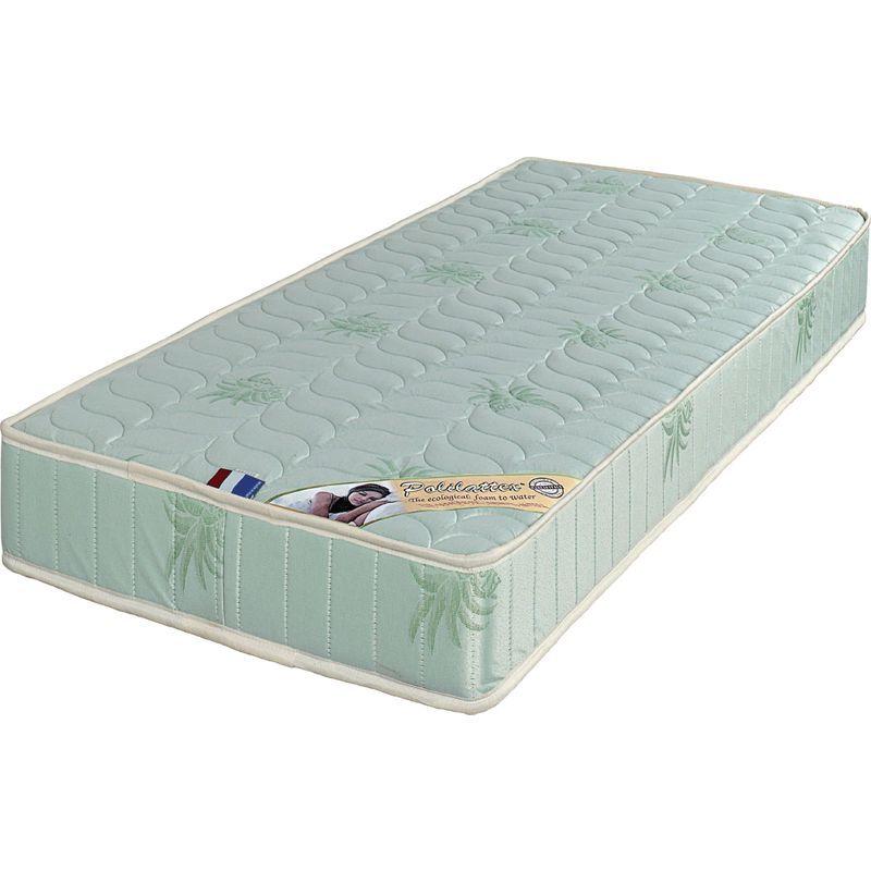 Provence Literie - Lot de 2 Matelas 70x190 x 19,5 cm + 2 Oreillers Visco - Très Ferme - Tissu a l'Aloe Vera - Mousse Poli Lattex Haute Résilience