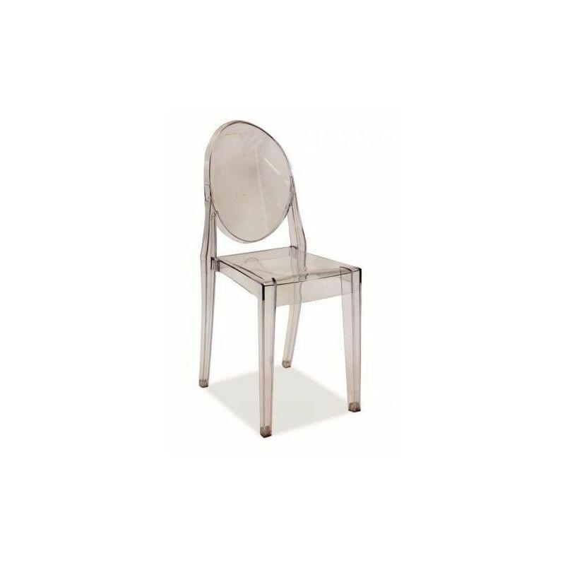 Hucoco - MARTEN - Chaise style moderne salon salle à manger - Dimensions 90x38x51 cm - Tissu haute qualité - Chaose style contemporain - Transparent