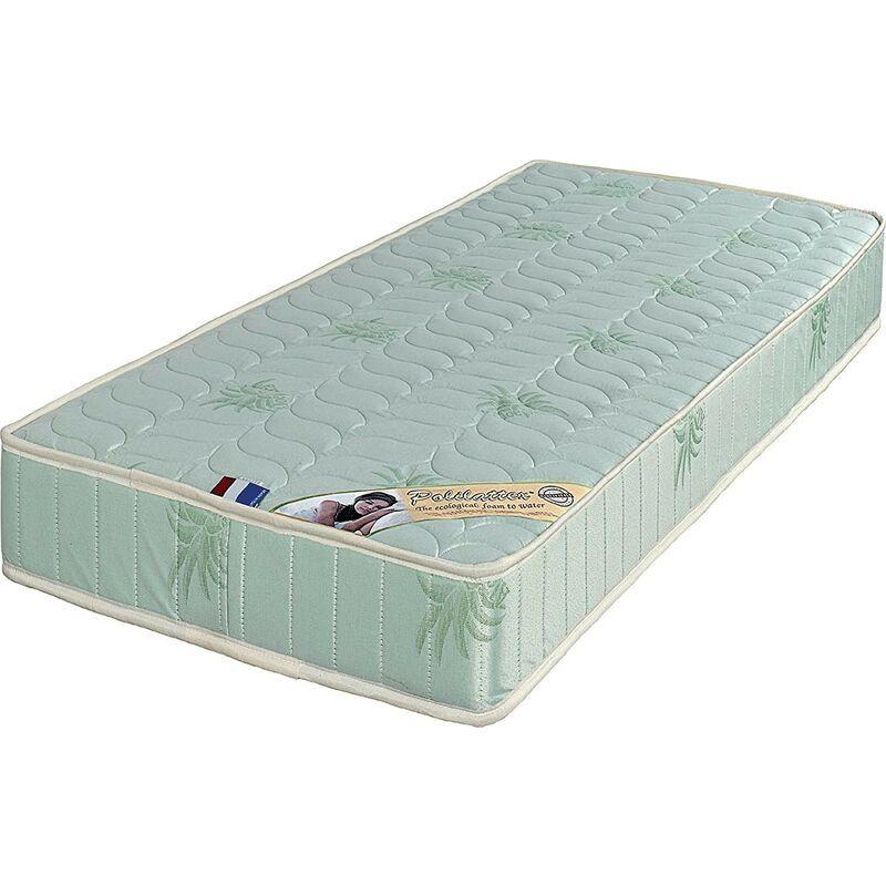Provence Literie - Matelas + Alèse 120x190 x 19,5 cm - une Face Soutien Souple et une Face Soutien Ferme - reference Tabatha - Tissu a l'Aloe Vera