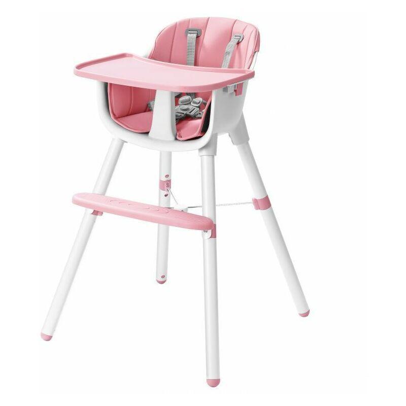HUCOCO MSTORE - Chaise haute 2 en 1 - À partir de 6 mois - Harnais 5 points - Siège pour bébé - Rose