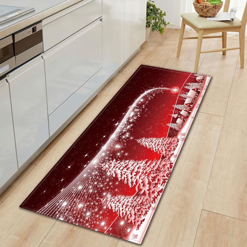 ASUPERMALL Noel Style Antiderapante Tapis Decoration Salon Cuisine Chambre A Coucher Tapis Porte Canape Tapis De Bain De Noel Paillasson, L & Style 2