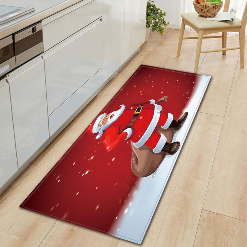 ASUPERMALL Noel Style Antiderapante Tapis Decoration Salon Cuisine Chambre A Coucher Tapis Porte Canape Tapis De Bain De Noel Paillasson, S & Style 3