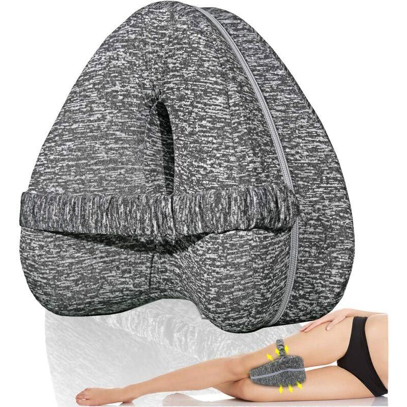 BEARSU Oreiller de genou avec sangle élastique, coussin orthopédique de positionneur de jambe, idéal pour l'alignement de la colonne vertébrale, de la