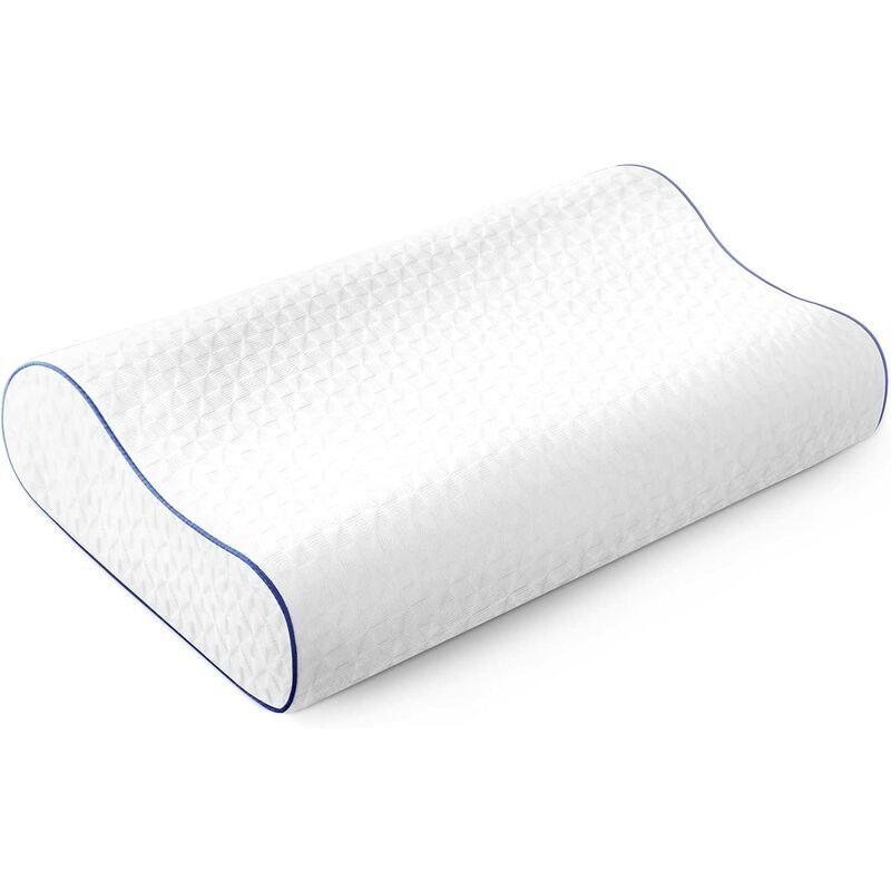 BRIDAY Oreiller en mousse à mémoire de forme Oreiller cervical ergonomique pour dormir Oreillers orthopédiques contour pour les douleurs au cou Soutien du