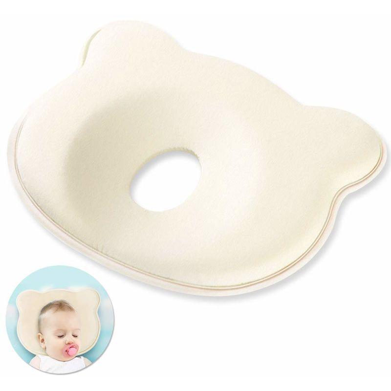 BARES Oreiller pour Bébé, Oreillers et coussins bebe, Coussin Nuage enfant, Oreiller orthopédique pour Bébé, Anti-Tête Plate Syndrome Plagiocéphalie,