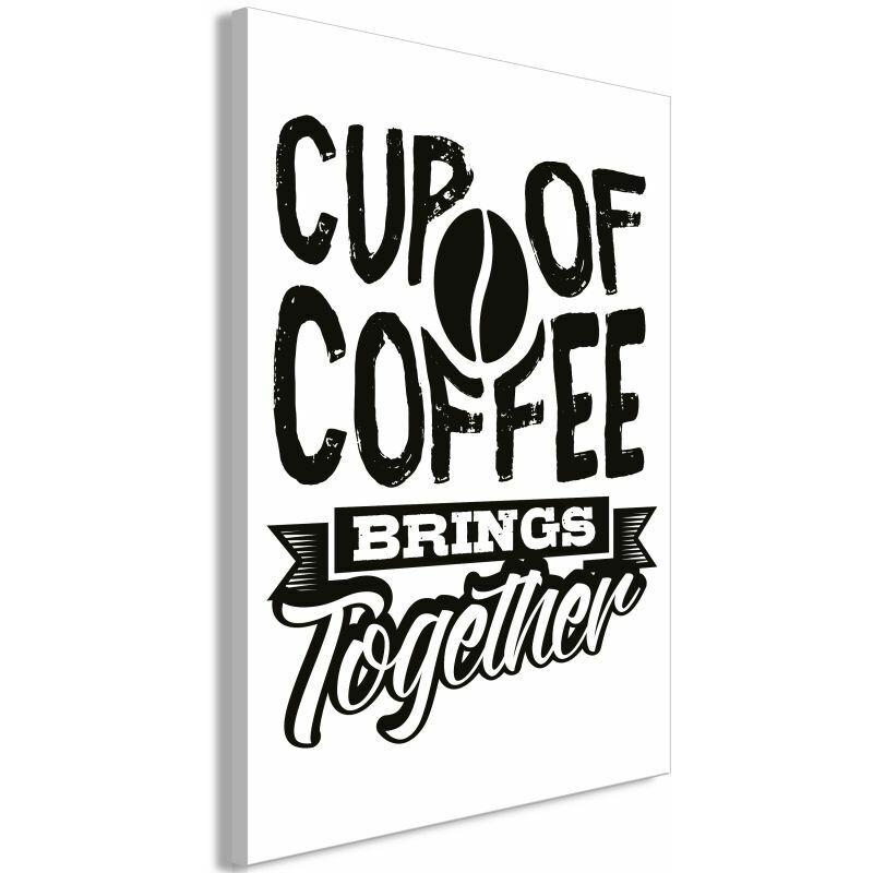 PARIS PRIX Tableau Imprimé cup Of Coffee Brings Together 80 X 120 Cm - Paris Prix