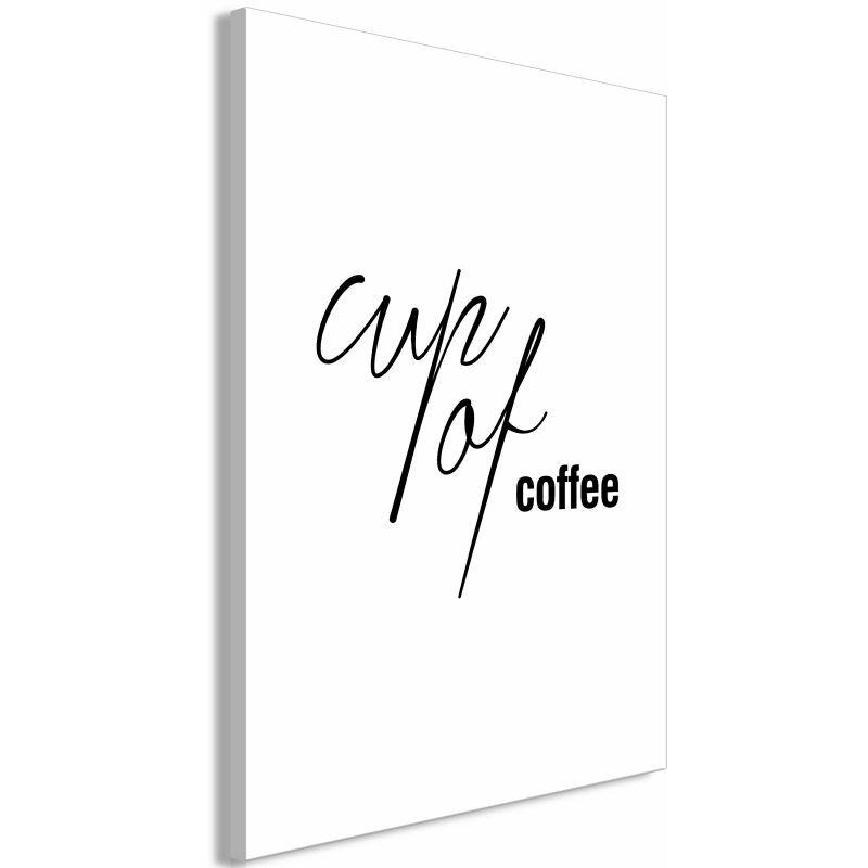 Paris Prix - Tableau Imprimé cup Of Coffee Noir & Blanc 60 X 90 Cm