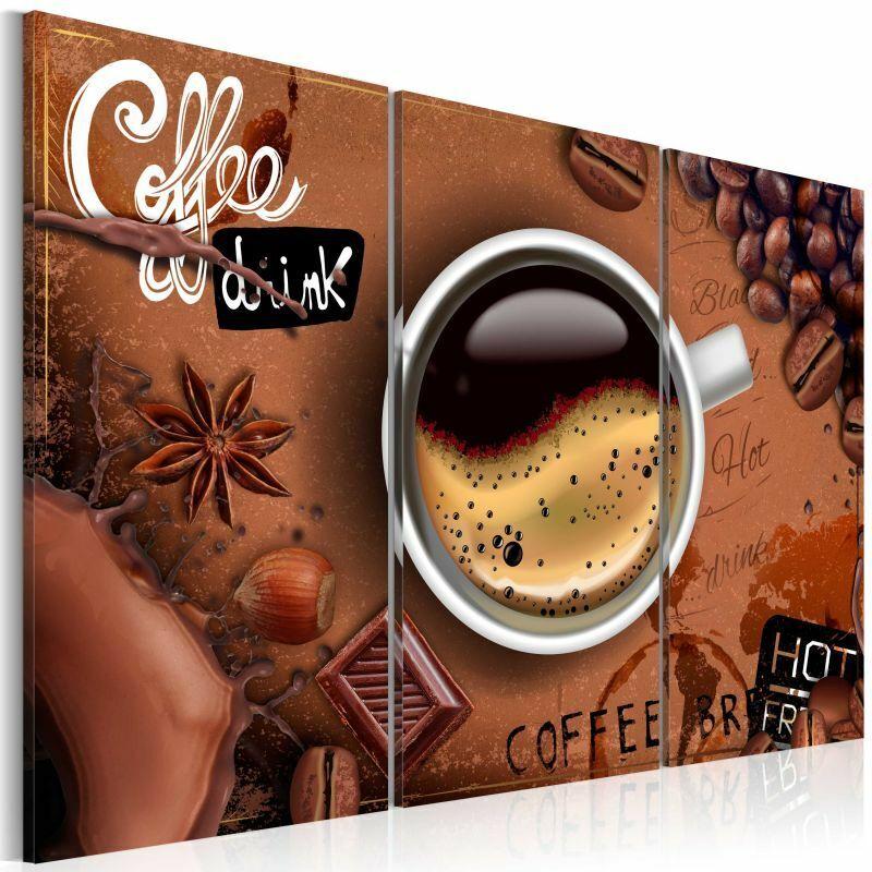 PARIS PRIX Tableau Imprimé cup Of Hot Coffee 80 X 120 Cm - Paris Prix