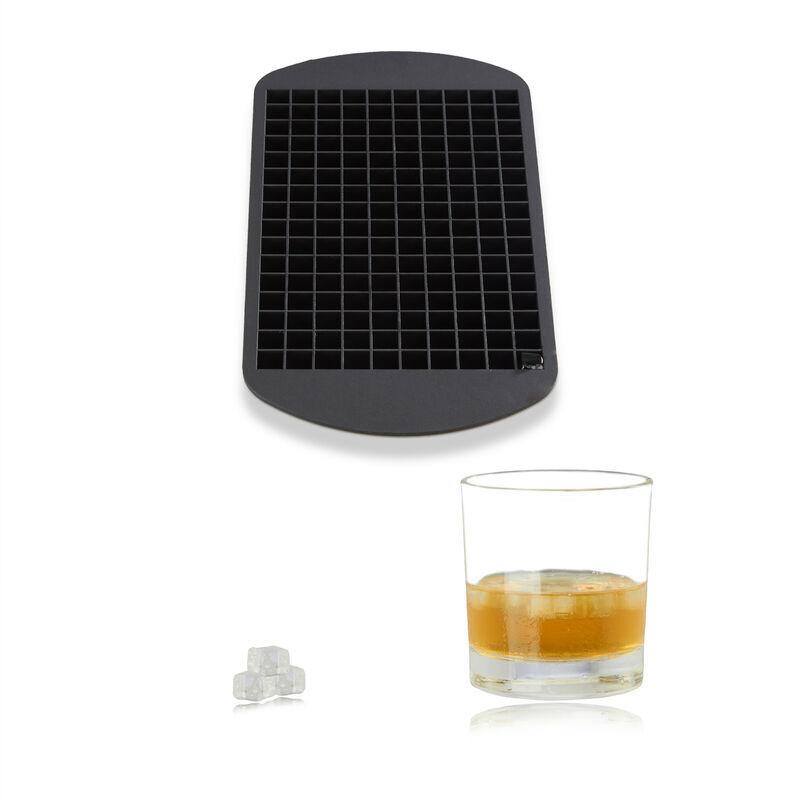 RELAXDAYS Bac à glaçons en silicone 1 cm moule à glace noir sans BPA HxlxP: 1 x 23,5 x 12 cm, noir