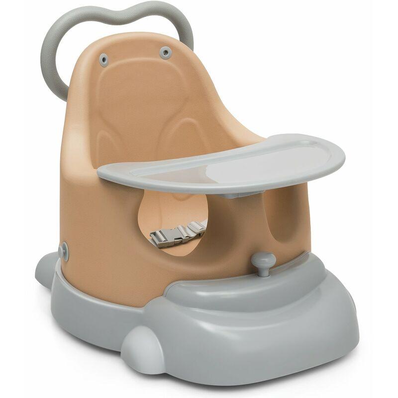 Décoshop26 - Réhausseur de chaise pour bébé 6 en 1 trotteur plateau et base amovible avec roulettes en polyuréthane 3-36 mois 25kg - noir