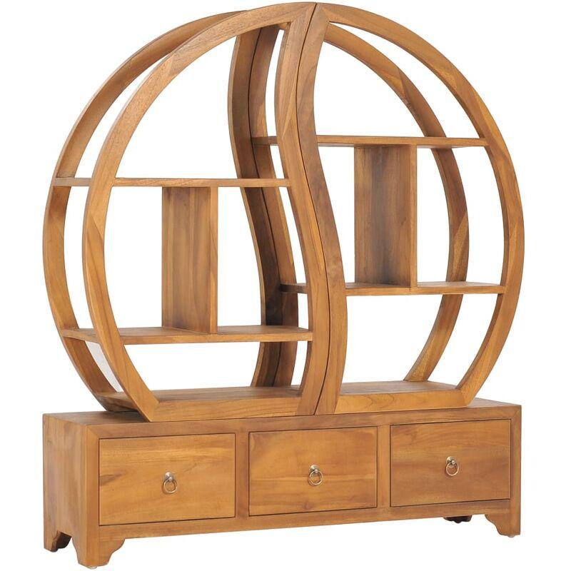 ROGAL armoire avec étagère yin yang 100x26x112 cm bois de teck massif - Rogal