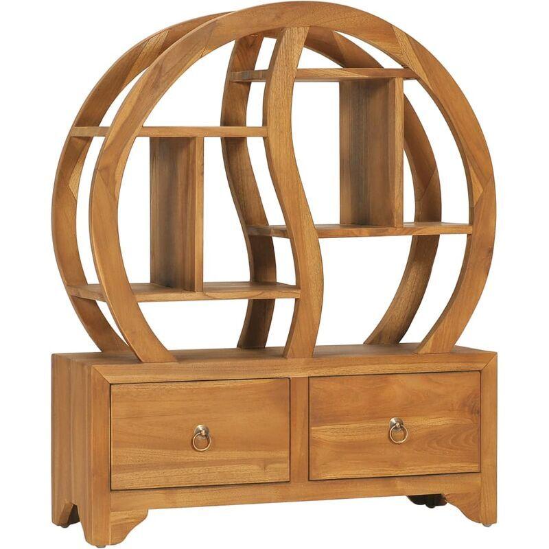 ROGAL armoire avec étagère yin yang 68x26x83 cm bois de teck massif - Rogal