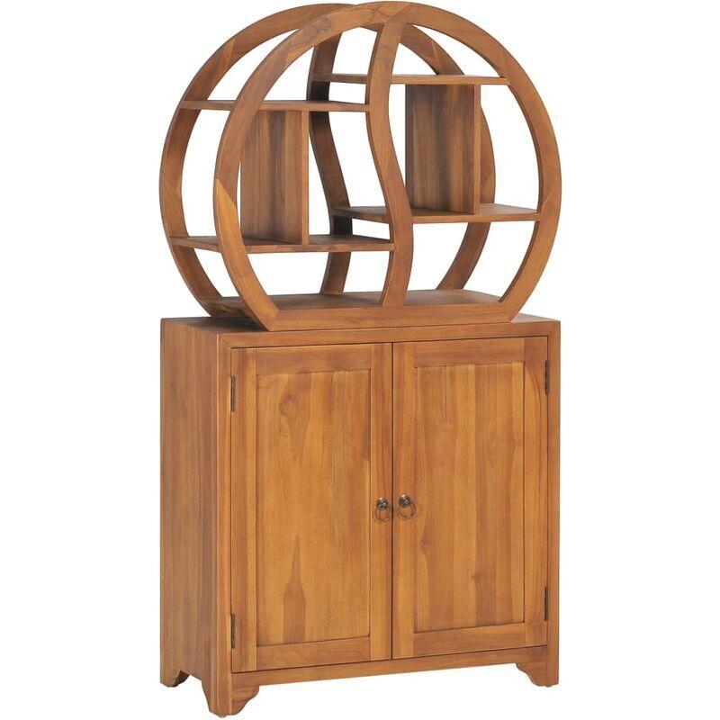 ROGAL armoire avec étagère yin yang 70x30x130 cm bois de teck massif - Rogal