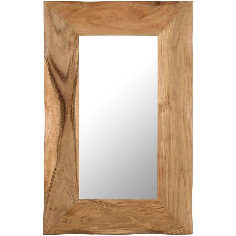 ROGAL miroir cosmétique 50x80 cm bois solide d'acacia - Rogal