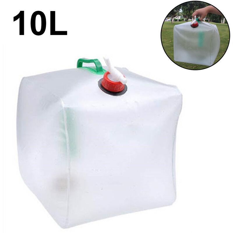 ZQYRLAR Sac de transport de stockage d'eau portable pour conteneur d'eau pliable, carafe de stockage d'eau d'urgence pour sac à dos de randonnée à