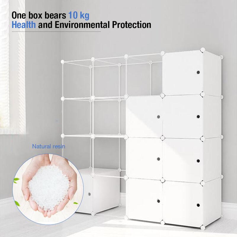 SIFREE ® Armoires Étagères Plastique Meuble Rangement Chambre 16 Cubes - Sifree