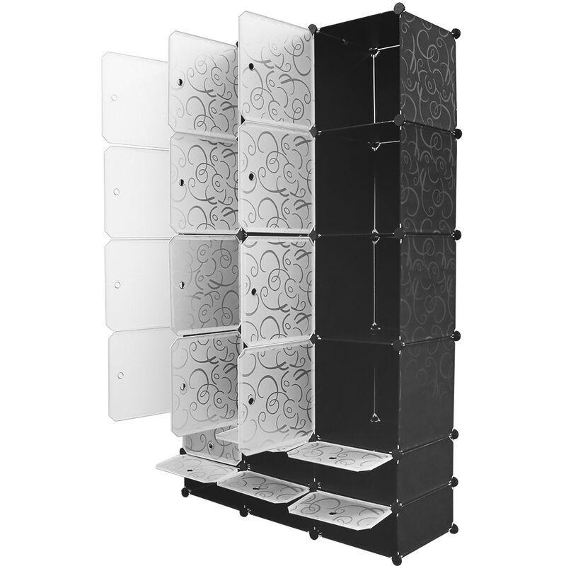 SIFREE ®Armoires Etagères Plastiques - Penderie Plastiques - Meuble Rangement 183*110*37cm - Sifree
