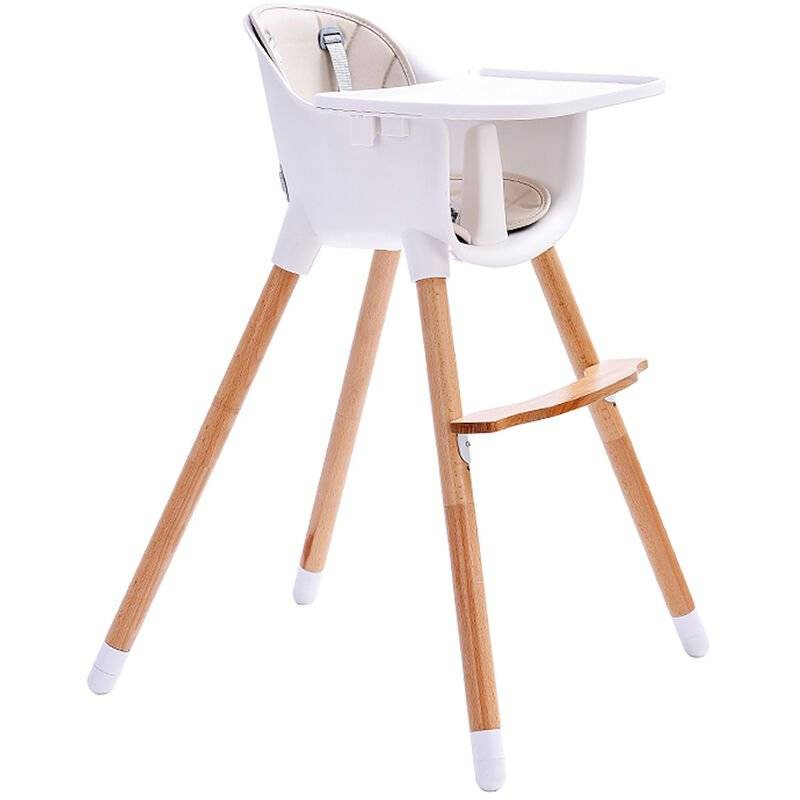 SIFREE ®Baby Vivo Chaise haute Bébé 2 en 1 réglable pour Enfant avec Tablette Amovible de 6 Mois à 3 Ans - Lani en Beige - Sifree