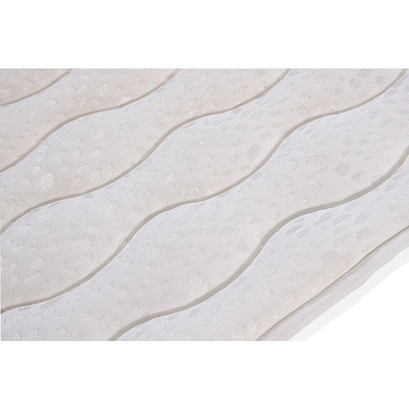 KIMBED Surmatelas tissu aloe vera 200x190 cm - 3 cm d'épaisseur TANA