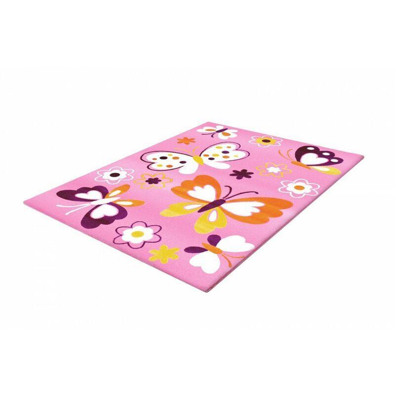 ALLOTAPIS Tapis bébé rectangle Amira Rose 160x230 - Rose