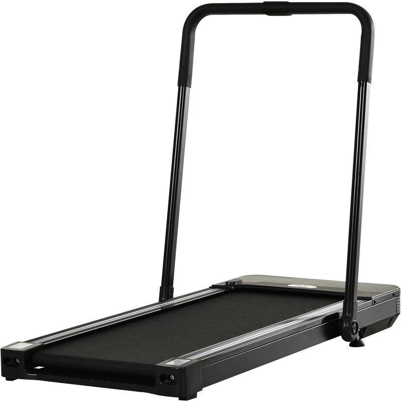Homcom - Tapis de course Fitness électrique pliable - 1 à 10 Km/h - écran LED multifonctions - puissance 600 W - acier noir