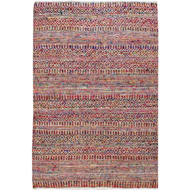 THE RUG REPUBLIC Tapis en coton recyclé et laine multicolore Sarah 230 x 160 cm - Multicolore