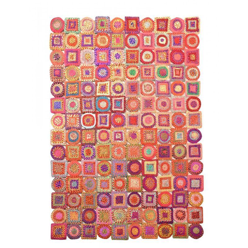 THE RUG REPUBLIC Tapis en coton recyclé Sienna 230 x 160 cm - Multicolore