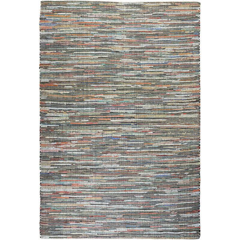 THE RUG REPUBLIC Tapis en cuir et chanvre Spica 230 x 160 cm - Multicolore