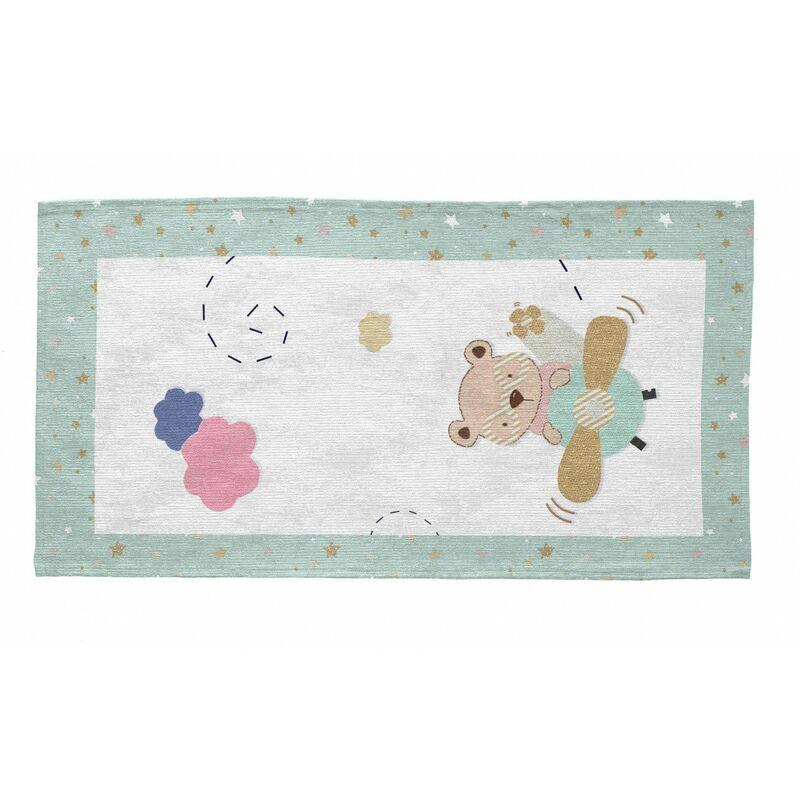 VIVABITA Tapis pour bébé multicolore rectangle Drive Multicolore 80x150 - Multicolore