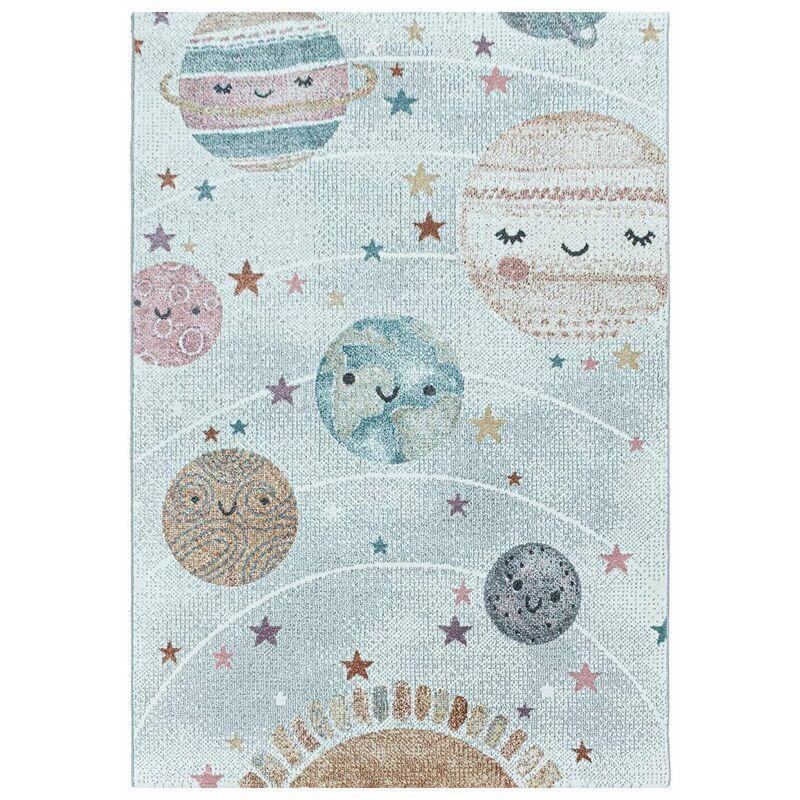 J&KIDS Tapis pour chambre bébé rectangle Nuit Blanc 160x160 - Blanc