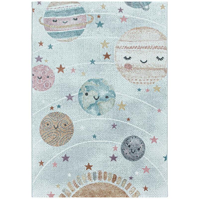 J&KIDS Tapis pour chambre bébé rectangle Nuit Blanc 160x230 - Blanc