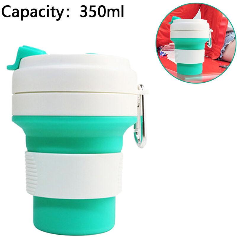 ZQYRLAR Tasse en silicone pliable, tasse d'eau portable à haute température, tasse pliable de voyage en plein air, tasse à boire de bureau pliante portable,