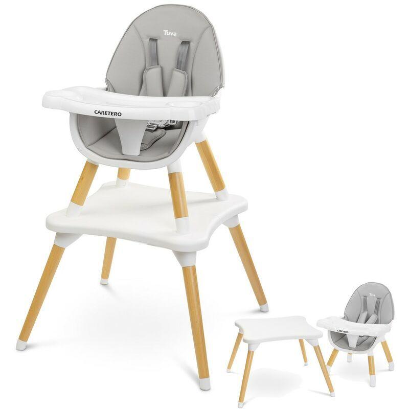 CARETERO TUVA Chaise haute évolutive en table et chaise Gris - Gris